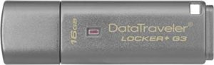 Pendrive más seguro Kingston DTLPG3/16GB Data Traveler Locker + G3, Memoria USB 3.0 con protección de datos personales, copia de seguridad automática en la nube