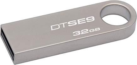 mejores marcas de pendrive Kingston DTSE9H/32GB - Memoria USB, 32 GB, Color Plata