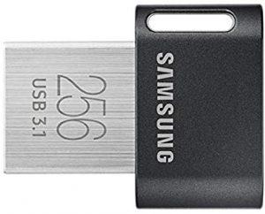 Pendrive 256GB Samsung MUF-256AB 256GB 3.1 (3.1 Gen 1) Conector USB Tipo A Negro, Acero inoxidable unidad flash USB - Memoria USB (256 GB, 3.1 (3.1 Gen 1), Conector USB Tipo A, Girar, 3,1 g, Negro, Acero inoxidable)
