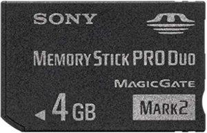 Sony MS-MT4GN - Tarjeta de Memoria Sony Memory Stick de 4 GB (32 MB/s)