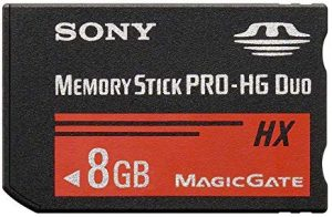 Memory Stick Sony MSHX8B - Tarjeta de memoria Sony Memory Stick PRO-HG Duo de 8 GB (50 MB/s), negro