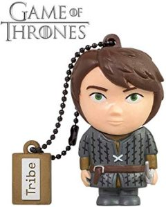 Pendrive Game of Thrones Tribe Game of Thrones (Juego de Tronos) Aria - Memoria USB 2.0 de 16 GB Pendrive Flash Drive de Goma con Llavero, Color Gris