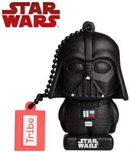 Pendrive Star Wars 32gb Tribe Star Wars 8 Pendrive - Memoria USB Flash Drive 2.0, de Goma, de 32 GB con Llavero, diseño Darth Vader