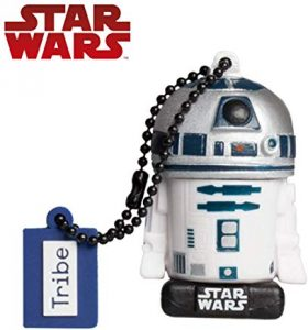 Pendrive Star Wars Tribe Star Wars 8 Pendrive - Memoria USB Flash Drive 2.0, de Goma, de 32 GB con Llavero, diseño R2D2