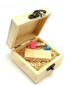 Pendrive para Regalar USB Flash Drive, luckcrazy de madera memoria usb 2.0 Stick pulgar disco Wooden-Rectangle 32GB