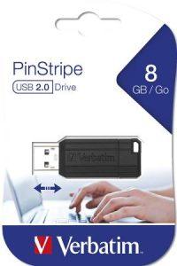 Memoria USB 8gb Verbatin Pin Stripe Pendrive 8gb